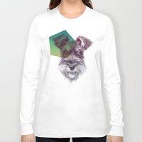 schnauzer Long Sleeve T-shirts featuring Schnauzer by MOSAICOArteDigital