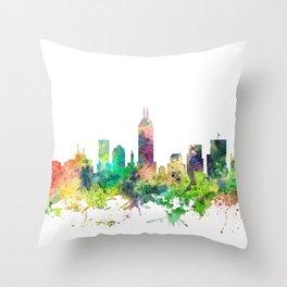 Indiana, Indianapolis Skyline SP Throw Pillow