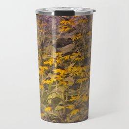 Yellow Jungle Travel Mug