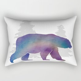 Snow Bear - Technicolour Safari, Polar bear Rectangular Pillow