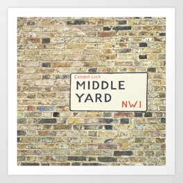 Middle Yard - London Art Print