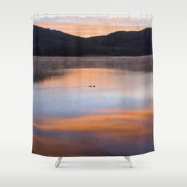 Out of the Depths (Sunrise on Lake George) Shower Curtain