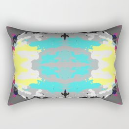Kanemi - Abstract Colorful Batik Butterfly Mandala Art Rectangular Pillow