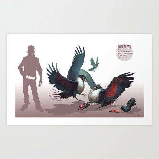 Pokemon-Honchkrow Art Print