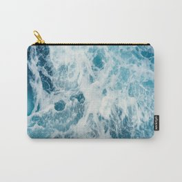 Blue Ocean Waves Crashing  Carry-All Pouch