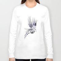 maori Long Sleeve T-shirts featuring Colibri Maori by Aurélie B