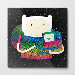 BMO & Finn Fan Art Metal Print