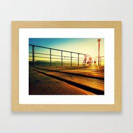 sunrise on the deck Framed Art Print