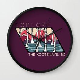 Explore the Kootenays, BC Wall Clock
