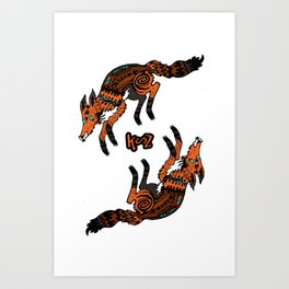 GIN & JANKY Art Print