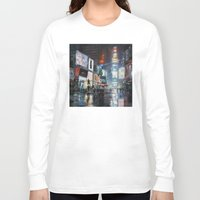 broadway Long Sleeve T-shirts featuring Nights on Broadway by Scott Grabowski