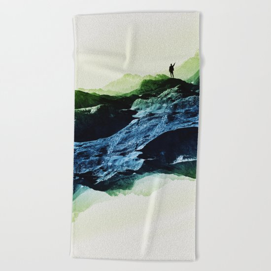 Blue Contact Beach Towel