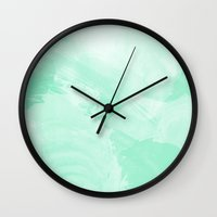the strokes Wall Clocks featuring Strokes by Raag R.