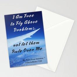 Be Above Problems Stationery Cards