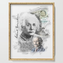 Albert Einstein Serving Tray