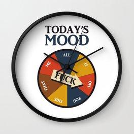Today's Mood Wall Clock