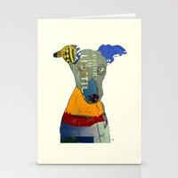 greyhound Stationery Cards featuring kacy (greyhound  by bri.buckley