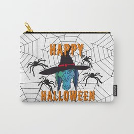 Witch Happy Halloween white Carry-All Pouch