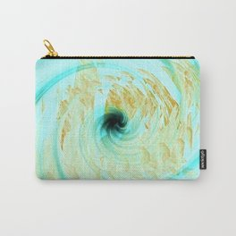 Teal and White Abstract Fashion Design Carry-All Pouch