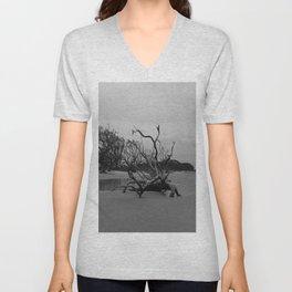 Ghost Trees - Driftwood Beach Unisex V-Neck