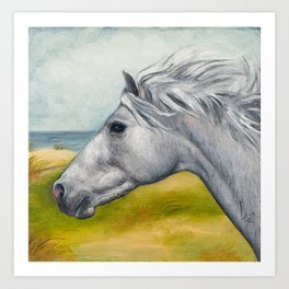 Horse Profiles 1 Art Print