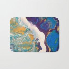 Fluid Nature - Dividing Line - Abstract Acrylic Art Bath Mat