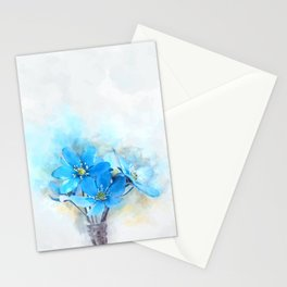Summer Blue #watercolor #floral Stationery Cards