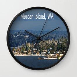 Mercer Island Wall Clock
