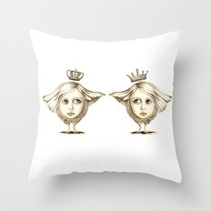 Siamese Queens Throw Pillow