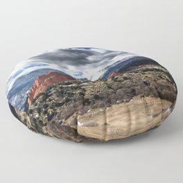Pikes Peak - Colorado Springs Floor Pillow