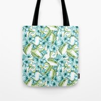 blossom Tote Bags featuring Blossom by Julia Badeeva