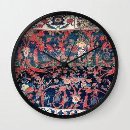 Bijar Vagireh Kurdish Persian Rug Sampler Wall Clock