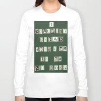 marauders Long Sleeve T-shirts featuring Marauders Map Pledge by Holly Walker