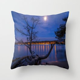 Evening Calm in the Cote d'Azur Throw Pillow