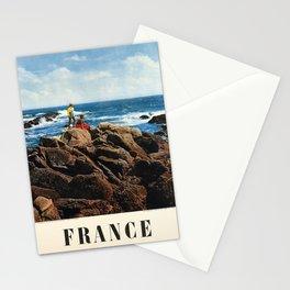 cartel france la mer en bretagne Stationery Cards
