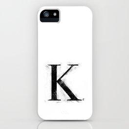 K. - Distressed Initial iPhone Case