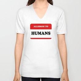 Allergic To Humans Unisex V-Neck