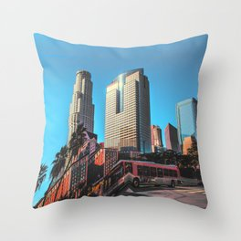 City Glitch Throw Pillow