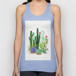 Cactus Garden Unisex Tank Top