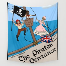 Pirates of Penzance Poster Wall Tapestry