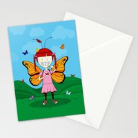 i heart butterflies Stationery Cards