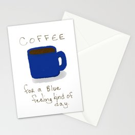 Blue Day Coffee Stationery Cards
