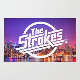 The Strokes Logo New York Night Rug