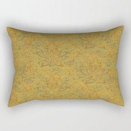 Gold Flourish Wall with Overlap Rectangular Pillow