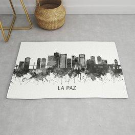 La Paz Bolivia Skyline BW Rug