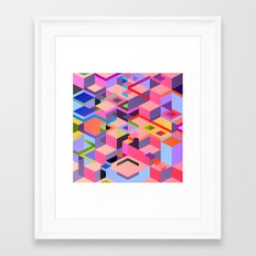 Isometric Chaos Framed Art Print