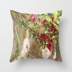 flowering vines Throw Pillow