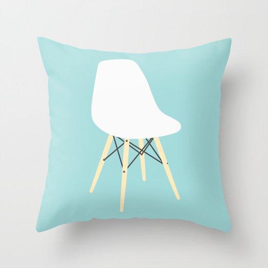 #98 Eames Chair Throw Pillow