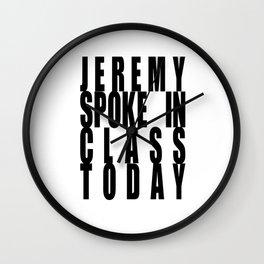 jeremy pearl Wall Clock