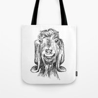goat Tote Bags featuring Goat by Sarah Mosser